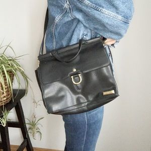 Tahari Black Crossbody Faux Leather Bag